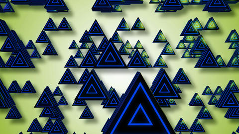3d triagonal blue Animation
