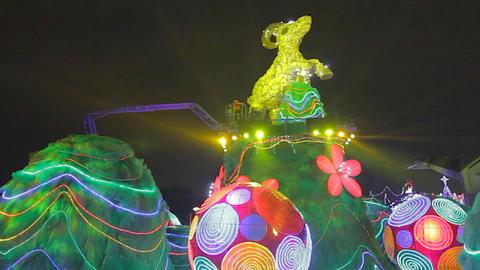 2015 - sheep flashing lights - Taiwan lantern fest Live影片