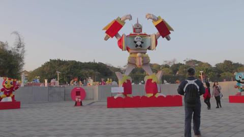 pan - Transformer with panda - Taiwan lantern fest Live影片