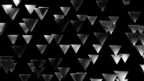 white triagonal pieces Animation