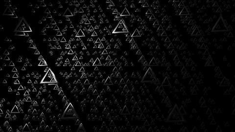 flying triangle white Animation