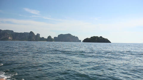 Seascape Of Island At In Thailand stock footage