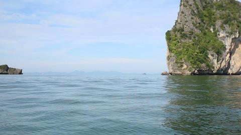 gorgeous azure coastal sea near islands Live Action