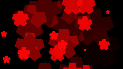 tileable red star shape with alpha Animation