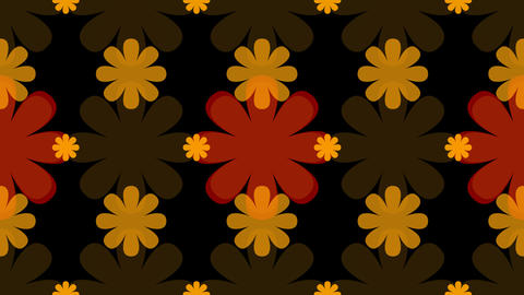 tileable decorative flower pattern with alpha Animation