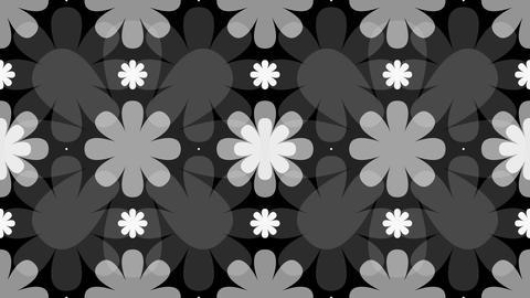 tileable decorative flower matte with alpha Animation