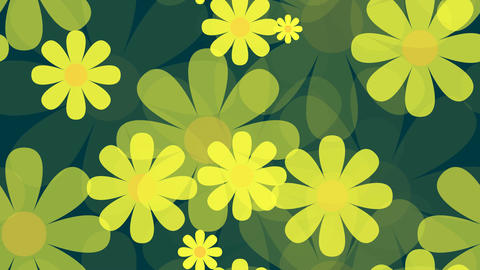 tileable yellow flower array Animation