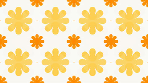 tileable classic decorative flower Animation