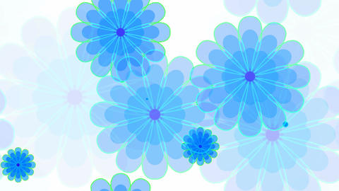 tileable blue flower sweety Animation