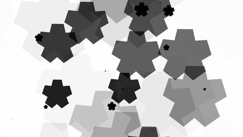 tileable black star array Animation