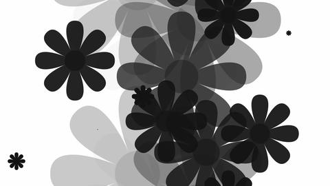 tileable black flower array Animation