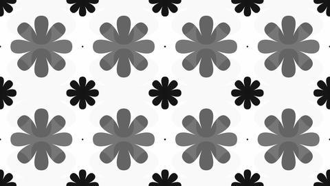 tileable black decorative flower Animation