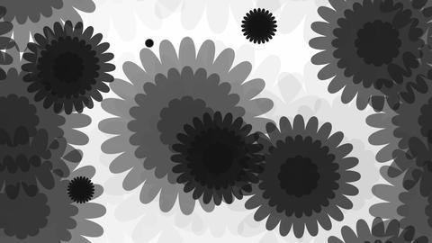 tileable monochrome sun flower Animation