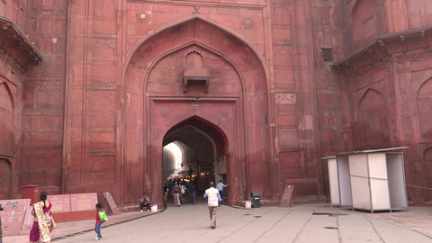 Red Fort 1 stock footage