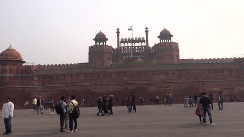Red Fort, Delhi, India, UNESCO world heritage site Footage