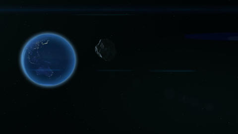 space asteroid flying to earth hd Footage