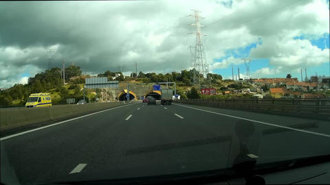 Tunnel POV Stock Video Footage