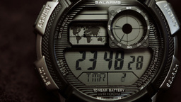 Digital Watch Face Close Up HD Stock Footage stock footage