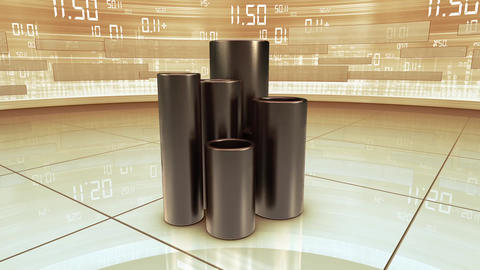 Animated Commodity Signs stock footage