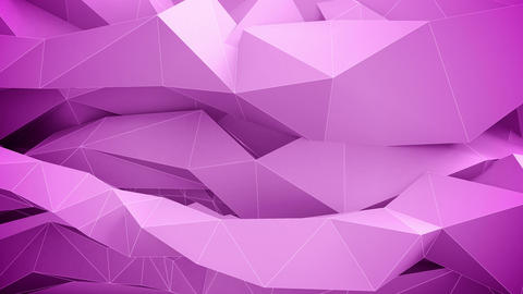 Adstract Geometric Shapes In Motion. Pink stock footage