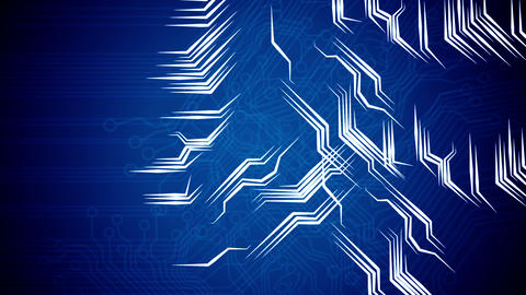 Conceptual background of circuit board's signals Animation