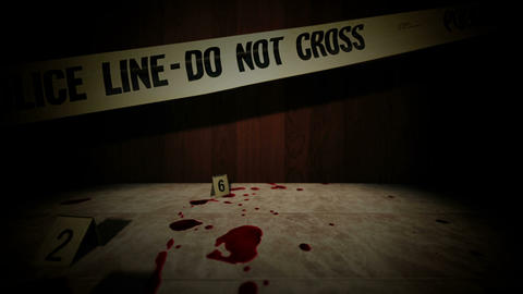 Crime Scene stock footage