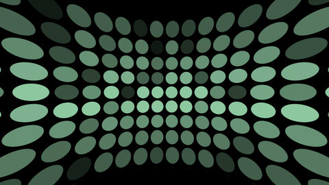 Colored Dots Blinking On Black stock footage