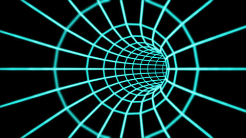 Abstract 3d tunnel from a grid. Loop Animation