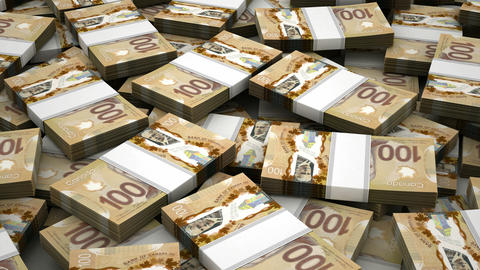 Stack of Canadian Dollar Animation