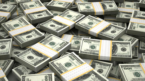 Stack of American Dollar Animation