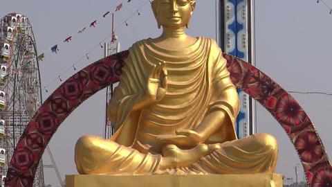 Lord Buddha at Surajkund Fair/Village fair Footage