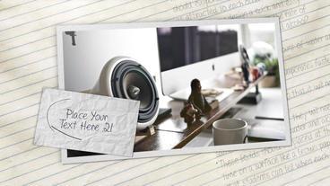 Notebook Slideshow stock footage