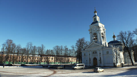 Vyborg. Transfiguration Cathedral. 4K Footage