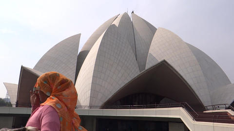 Lotus Temple Or Bahai House Of Worship, New Delhi, stock footage