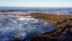 Ocean waves rushing over reef Footage