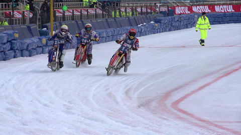 Competitions Motorcyclists on Ice Footage