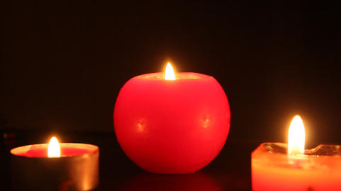 Romantic Candles stock footage
