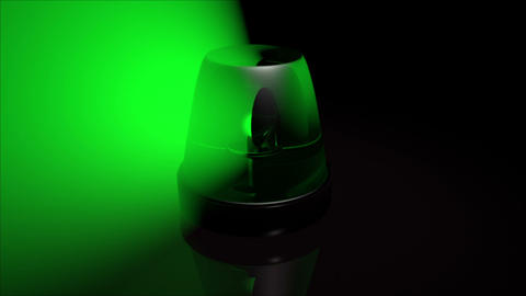 Green Emergency Lights stock footage