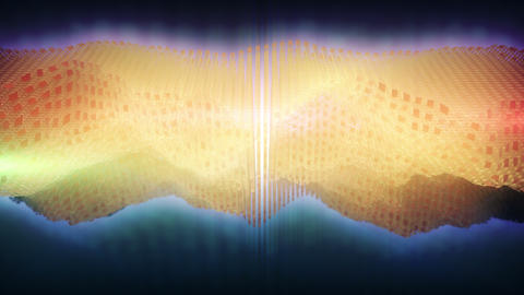 Space Wave Form. 3D Audio Equalizer stock footage