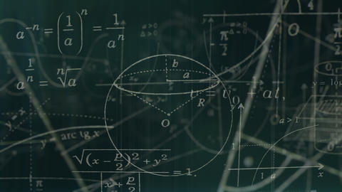 Loopable Math Symbols Journey Flying Through Camera Stock Video Footage