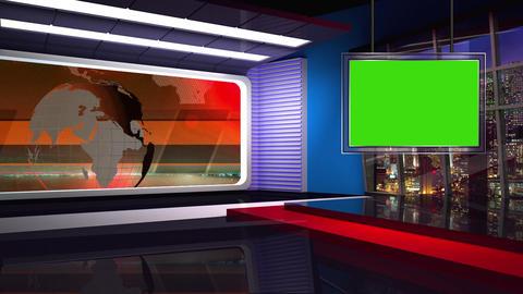 News TV Studio Set 46 - Virtual Background Loop Footage