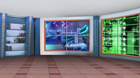 Education TV Studio Set 04 - Virtual Background Loop Footage