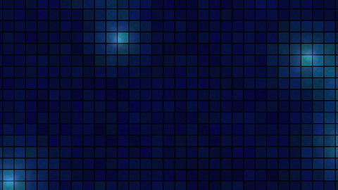 Lights Across Tiled Background - Loop Blue Animation