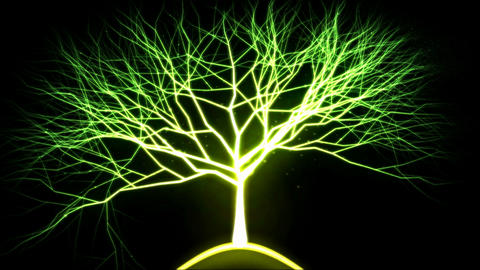 Tree of Light Particles - Green Animation