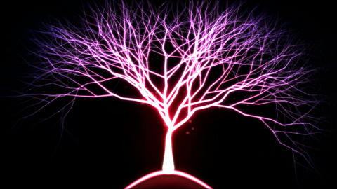 Tree of Light Particles - Pink Animation