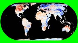 NASA NEO - LSTA. Eckert IV Animation