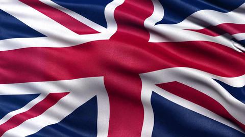 4K Flag Of The UK Seamless Loop Ultra-HD stock footage