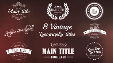 Vintage Typography Titles Package - After Effects Template After Effects Template