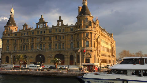 Haydarpasa Historical Station Building stock footage
