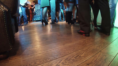 People dancing in the restaurant Footage